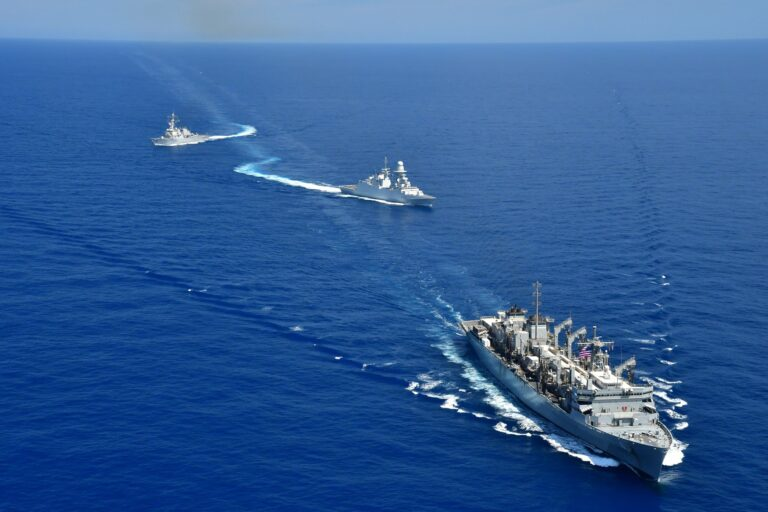 U.S. 6th Fleet conducted Photo Exercise with Italian Navy frigate