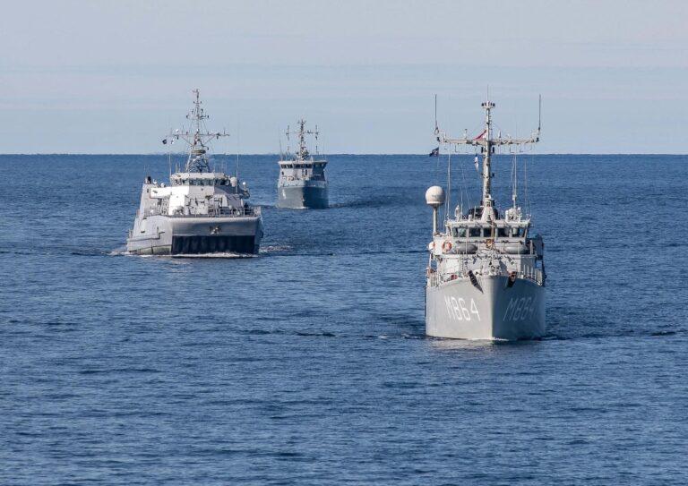 NATO SNMCMG-1 participates in Finnish Naval Drills