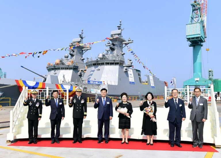 4th Daegu-class frigate launched by HHI for the South Korean Navy