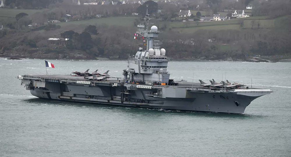 French Carrier Charles De Gaulle to return home due to possible COVID-19 infections