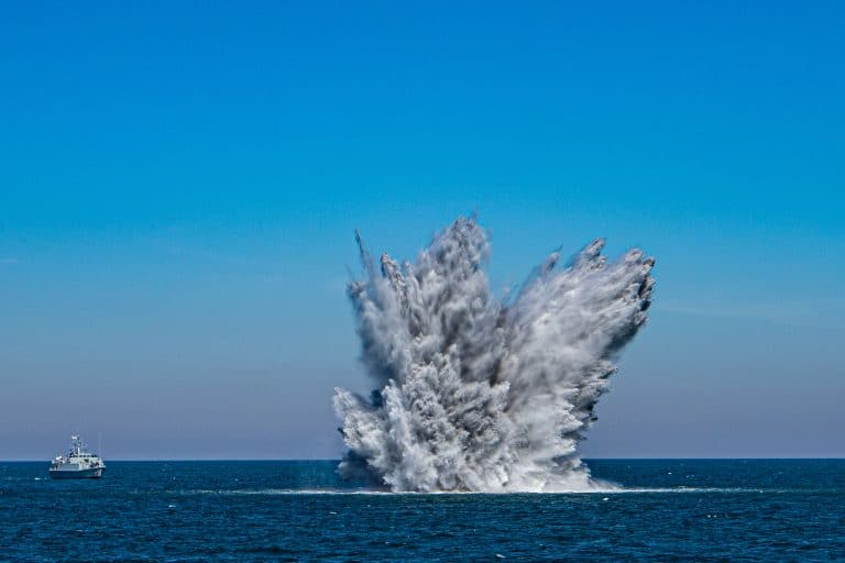 NATO assets clear historic sea-mines along French Coast