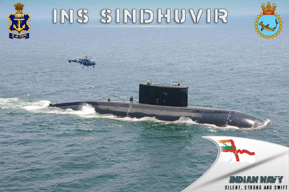 Indian Navy to deliver Kilo-class submarine INS Sindhuvir to the Myanmar Navy