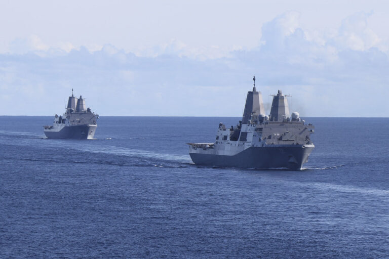 U.S. Navy conducts combat readiness drills in Pacific