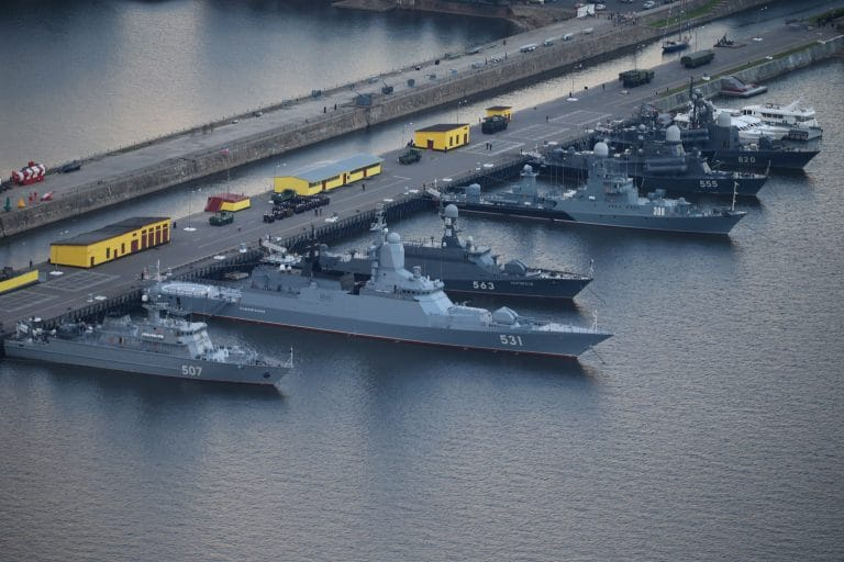 Russian Navy completed exercise at Baltic Sea