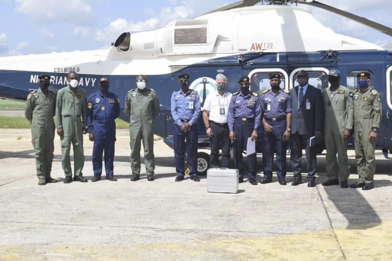 Leonardo delivers AW139 helicopter to the Nigerian Navy
