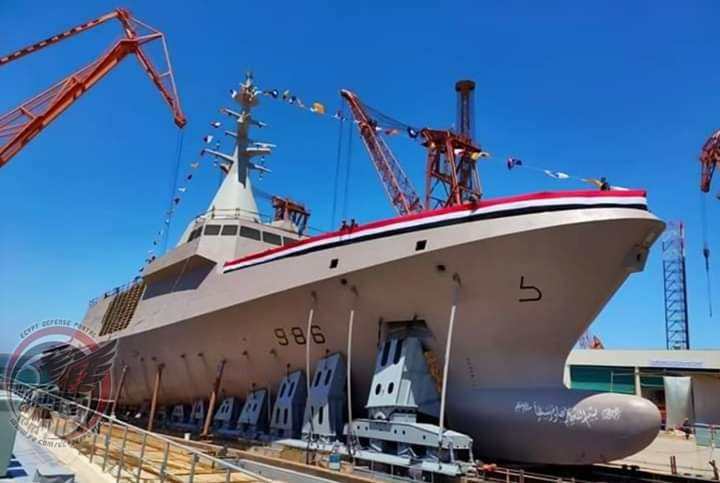 """Egyptian Navy launches fourth Gowind-2500 corvette """"Luxor"""""""