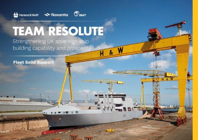 Navantia teams with Harland & Wolff for UK Fleet Solid Support Programme bid