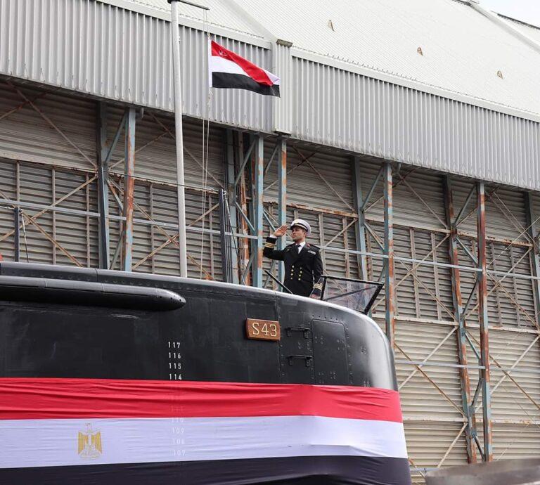Egyptian navy's new Type 209/1400 submarine arrives in Alexandria