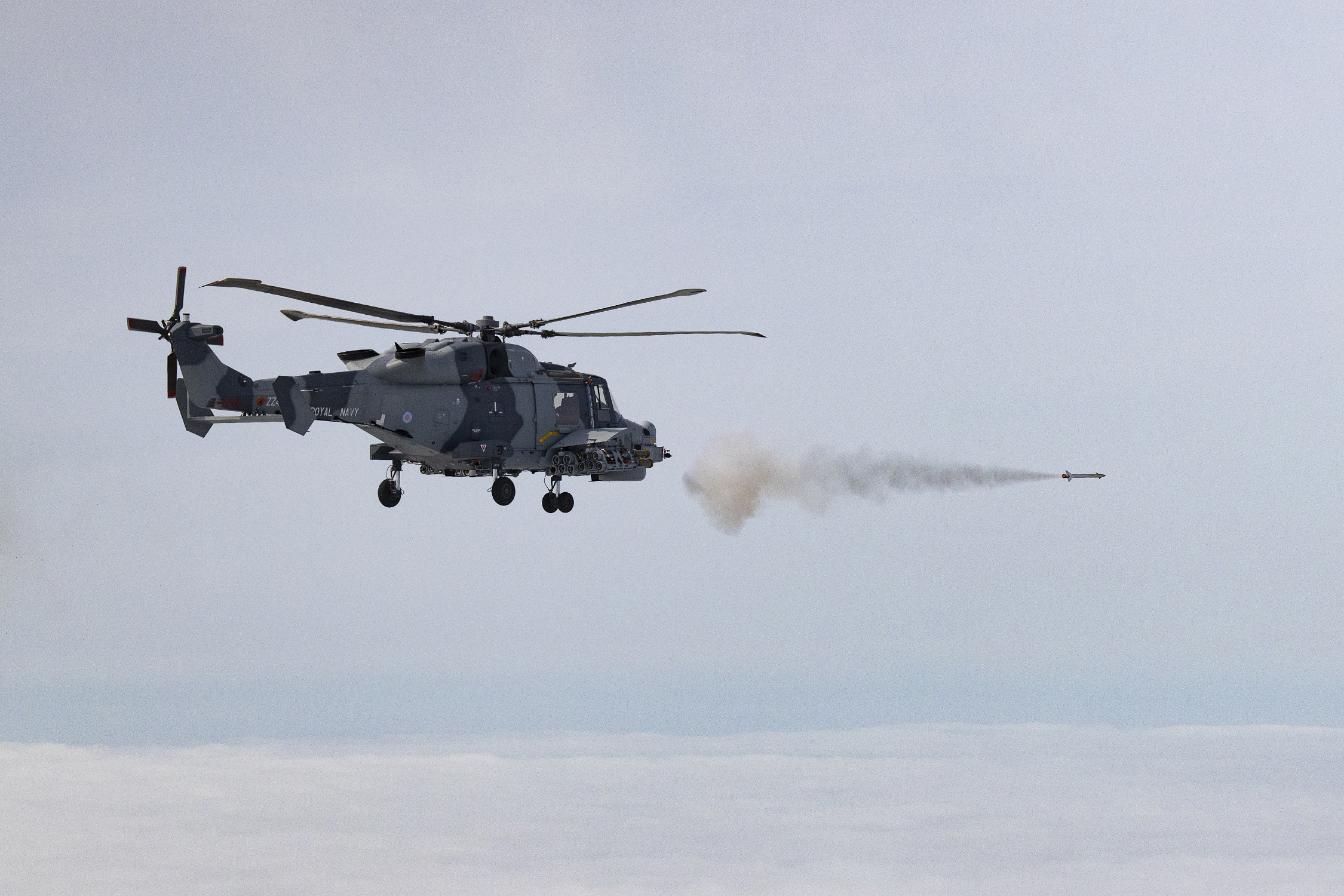 Royal Navy's Wildcat helicopters tested new Martlet missile