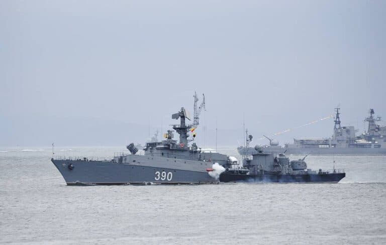 Russian Pacific Fleet conducts drills in the Sea of Japan