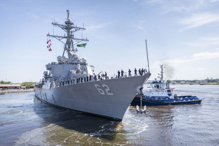 USS Fitzgerald en route to San Diego after two years of repairs