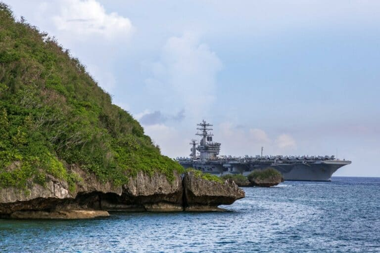 Nimitz Carrier Strike Group Pulls into Guam for Safe Haven Liberty