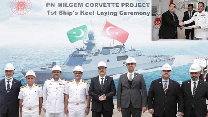Keel Laying of the first Milgem Class Corvette for the Pakistan Navy held in Turkey