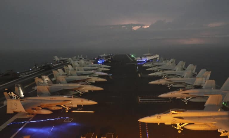 U.S. Carrier Gerald R. Ford Conducts Largest Aircraft Embark