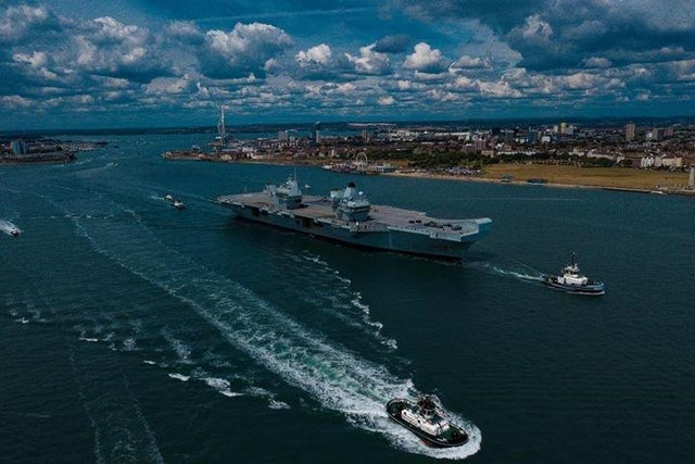 UK carrier Queen Elizabeth leaves Portsmouth to conduct new flight trials of F-35 aircraft