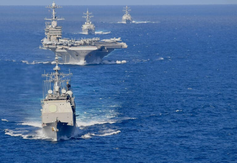 Harry S. Truman Carrier Strike Group begins to return from deployment