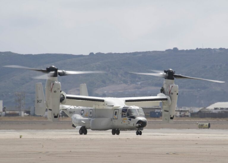 U.S. Navy's First CMV-22B arrives at Naval Air Station North Island for operational use