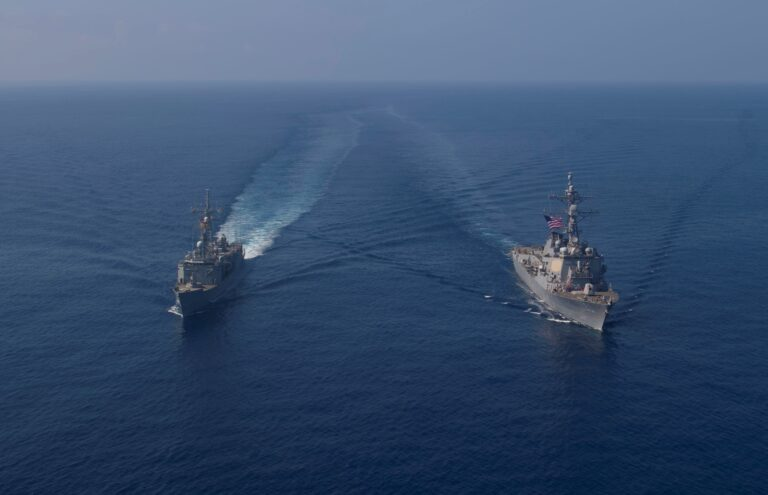 USS Roosevelt Conducts Passing Exercise with Spanish Navy