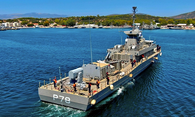 Hellenic Navy 's 6th Roussen-class FAC arrives Salamis base after sea trials