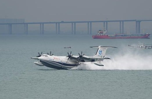 China's AG600 amphibious aircraft completes maiden flight over sea
