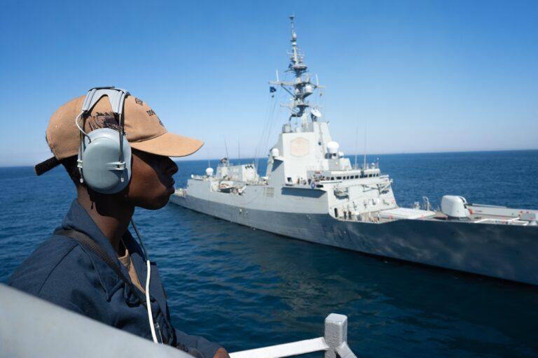 Spanish Navy Assists USS Porter with MEDEVAC