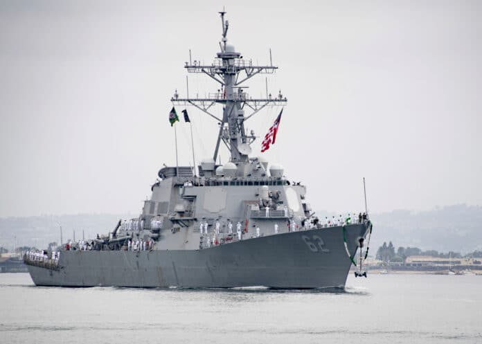 USS Fitzgerald Arrives at San Diego Homeport after two years