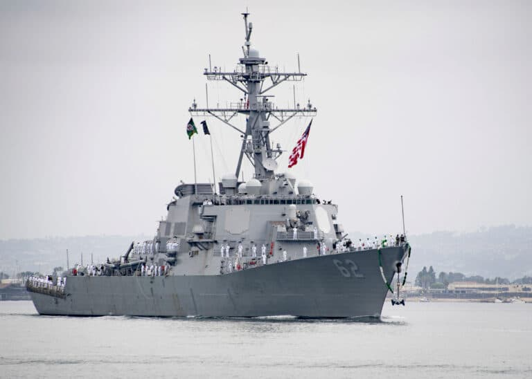 USS Fitzgerald Arrives at San Diego after two years