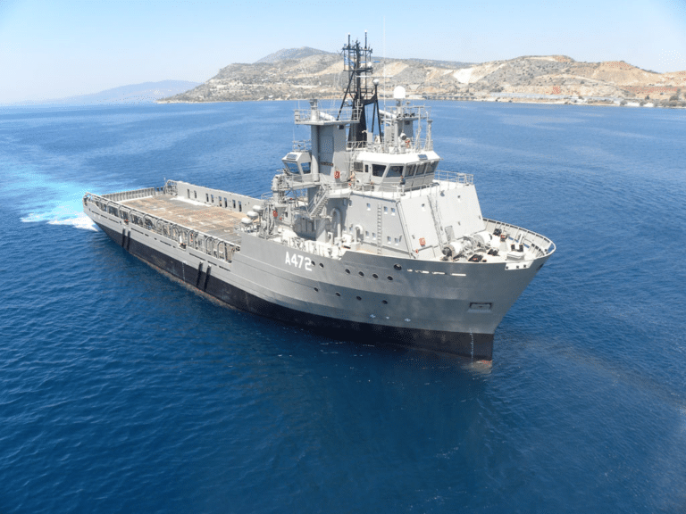 Hellenic Navy commissions general support ship donated by ex-President