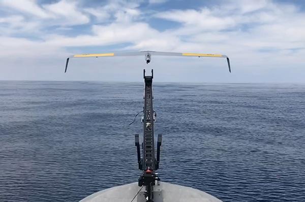 Elbit Integrates a mini-UAS Onboard the Seagull USV