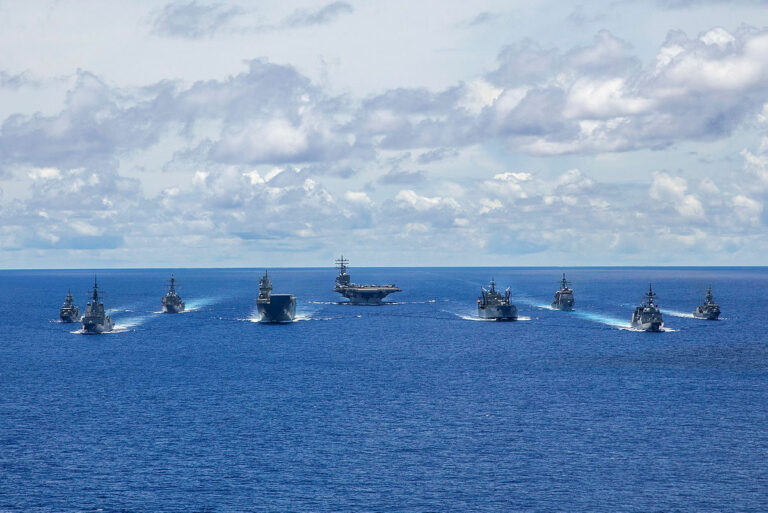 Australia, Japan and the U.S. naval assets conduct trilateral passage en route to RIMPAC