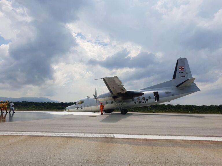 Royal Thai Navy maritime aircraft gets minor nose damage in emergency landing