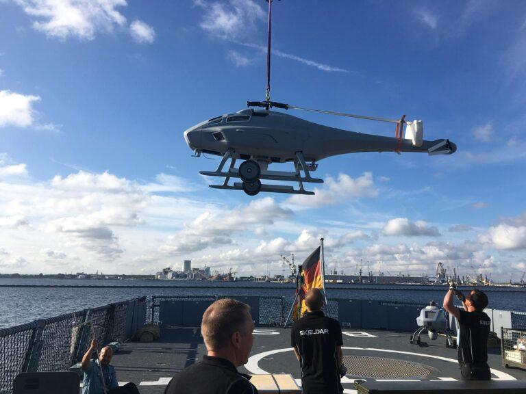 German Navy begins shipborne trials of UMS Skeldar's V-200 UAV