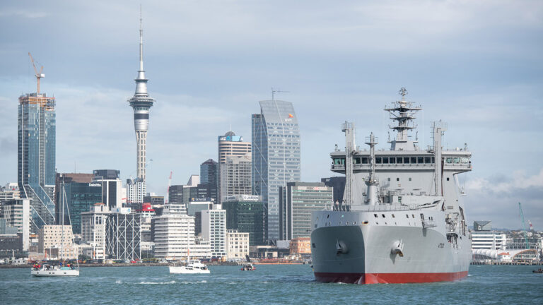 Royal New Zealand Navy commissions new logistic tanker