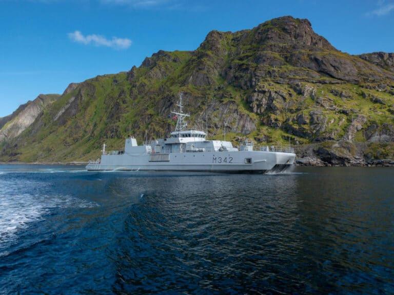 NATO clears WW-II sea mines in Norwegian fjord