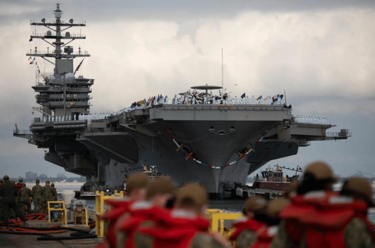 Eisenhower Carrier Strike Group of the U.S. Navy returns from deployment