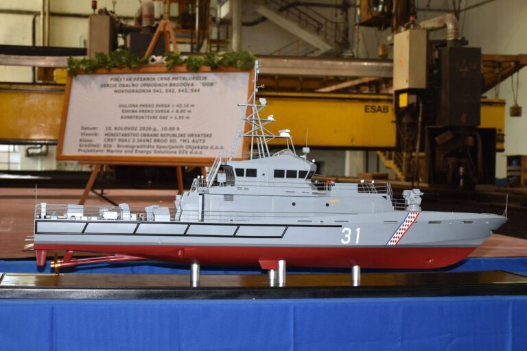 Brodosplit starts the construction of new patrol boats for the Croatian Navy