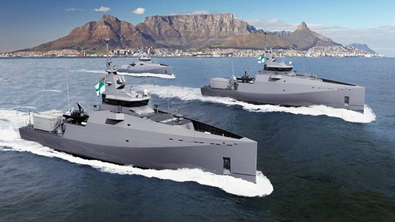 Damen lays keel of the 2nd Inshore Patrol Vessel for the S.African Navy