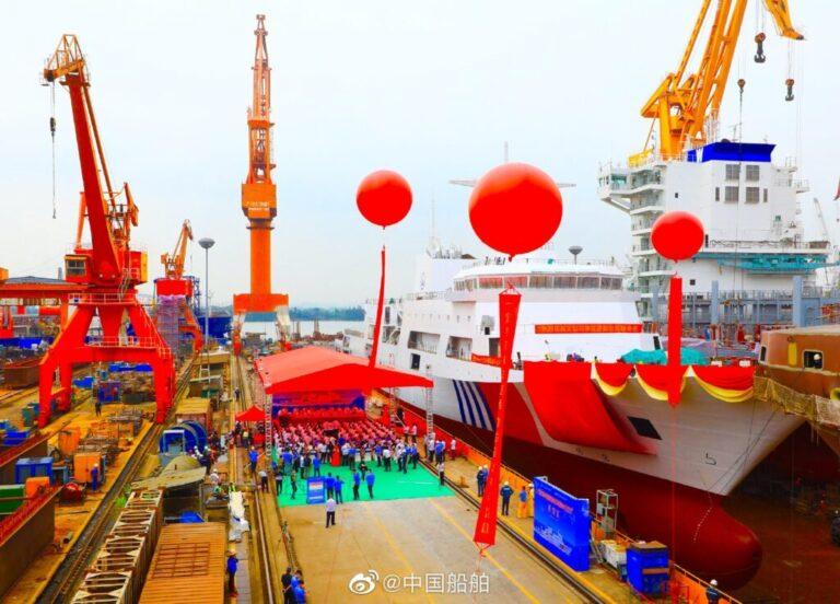 China launches its largest maritime patrol vessel Haixun 09