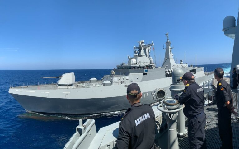 NATO warship conducts maritime drills with Algerian Navy