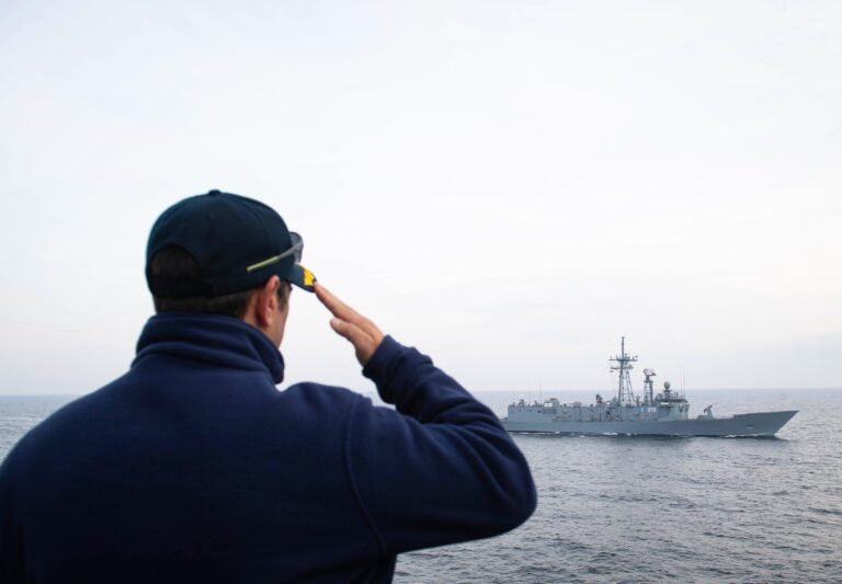 USS Ross conducts maritime drills with Polish frigate