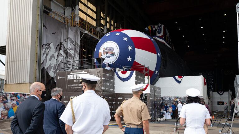 US Navy christened the newest Virginia-class submarine USS Montana with a virtual ceremony