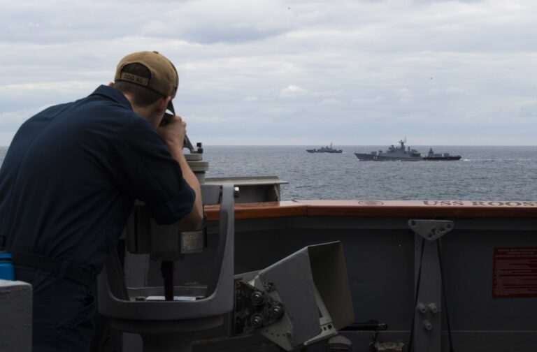 USS Roosevelt conducts passing exercise with Bulgarian Navy