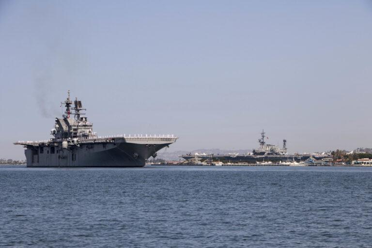 USS Tripoli arrives in San Diego