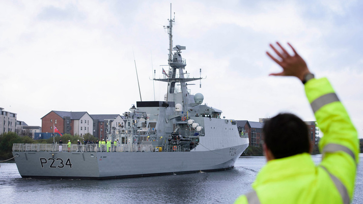 The final River-class Batch 2 OPV departs BAE Systems shipyard for delivery