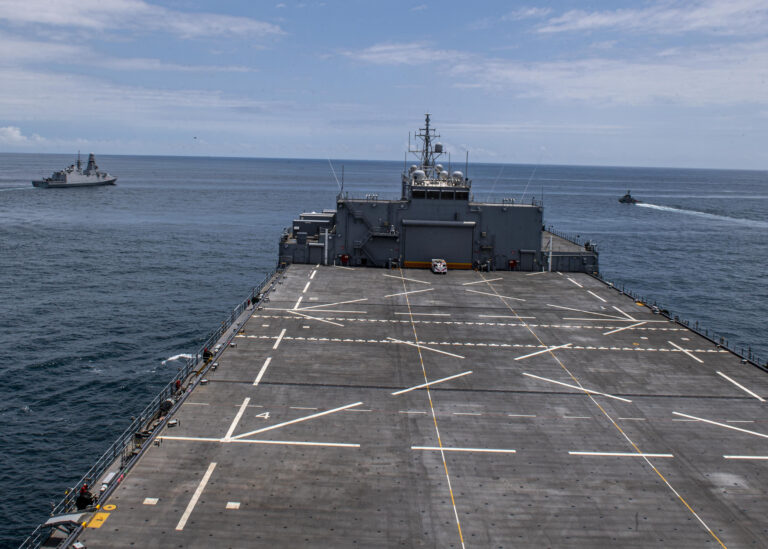 U.S. Navy's Expeditionary Sea Base conducts drills with Italian and Ghanaian Navies