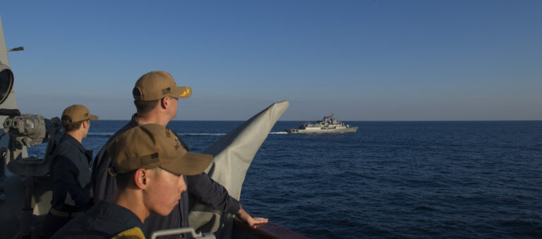 USS Roosevelt conducts PASSEX with Turkish frigate in the Black Sea
