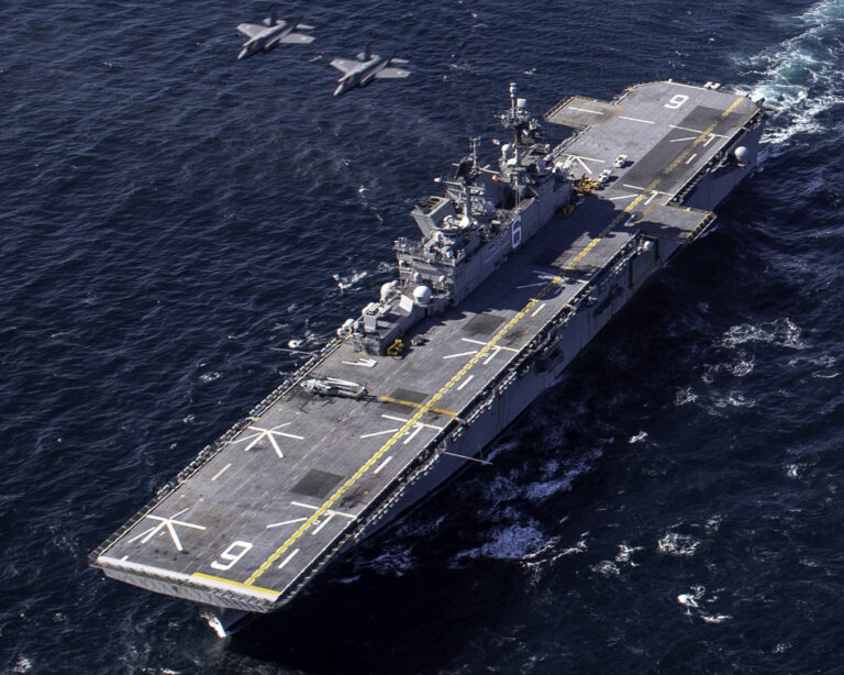 USS America conducts coordinated operations with Japanese F-35s