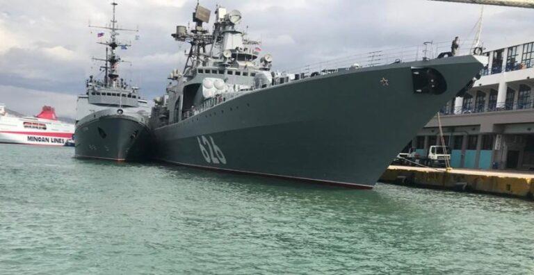 Russian warships visit Pireaus port of Greece in Mediterranean deployment
