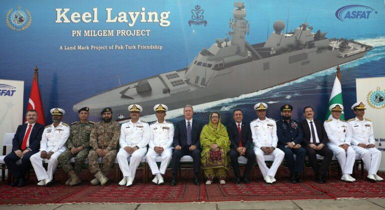 Pakistan Navy lays keel of the third MILGEM-class corvette