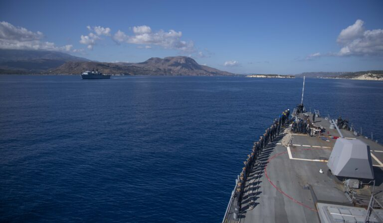 U.S. and Royal Navy assets hold drills in the East Med